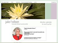 the Julie F Wilson Web Site Design Atlanta