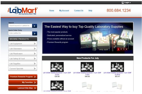 LabMart.com eCommerce Project powered by Zen Cart
